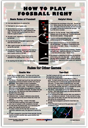 How to PLay Foosball Right Poster